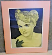 Vintage Matted Print Color Photo By Margaret Dell Hammond Ind. Padis Hillside NJ
