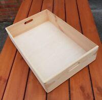 Wooden Serving Very Large Tray 60 cm x 40 cm x 13.5 cm Decoupage