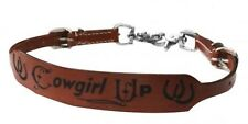 """Showman """"COWGIRL UP"""" Leather Branded Wither Strap! NEW HORSE TACK!"""