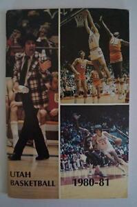 Vintage Basketball Media Press Guide University Of Utah 1980 1981