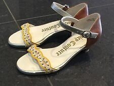 Juicy Couture New & Genuine Girls Yellow Leather Sandals UK 12, EU 31 With Logo