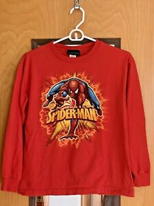 Marvel 2007 Amazing Spider-Man 3 Red Long Sleeve Youth L (14-16) T-Shirt