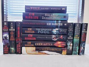 Lot of 13 Kim Harrison Books 7 Hardback 6 Paperback Witch Rachel Morgan Hollows