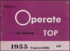ORIGINAL 1955 Chevy Bel Air Pontiac Star Chief Convertible Top Owners Manual NOS