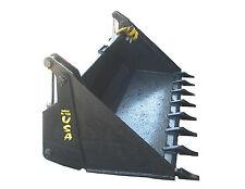 "4-1 Bucket W/Teeth 74"" Bobcat Skidsteer Attachment Universal Quick Attach"