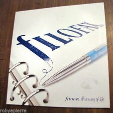 Vendo solo DEPLIANT pubblicità catalogo FILOFAX it's a way of life 2007 2008 pen