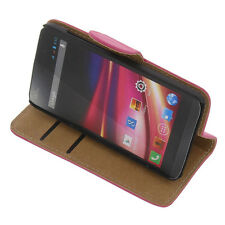 bag for Wiko Fizz Book-Style Stands Cases Cell phone case Book Pink