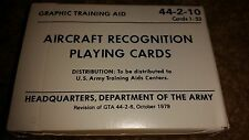 US Army - Aircraft Recognition Playing Cards 44-2-10 1979