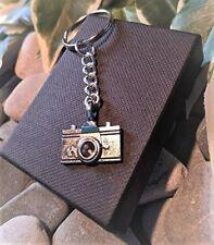Handmade Camera Silver Plated Keyring/bag Charm. Dad Father Gift. Photographer.