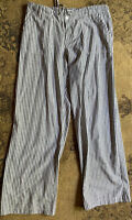 4Our Dreamers size XL beach linen stripped wide leg pants zip and tie