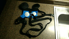 Disney Mickey Mouse Ears Baby Toddler Kids Harness With Leash Blue Safety