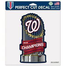 NEW! 2019 World Series Champions Washington Nationals Trophy Perfect Cut Decal