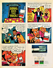 Vtg 1971 Doral cigarettes magic trick retro advertisement print ad comic art