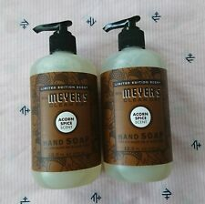 Mrs. Meyer's Lot of 2 Acorn Spice Liquid Hand Soap Wash 12.5oz Limited Edition