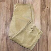 NWT EXPRESS Suede Capri Pants Size 13/14 Juniors Scalloped Dies Cut Hem Cropped