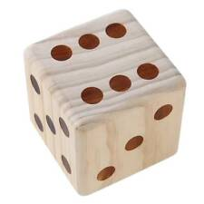 Wooden 9cm Big Dice Large Size Toy Courtyard Family Fun Games Props BS