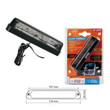 Luce Targa MOTO a 8 LED luce BIANCA OMOLOGATA Led di lunghissima durata