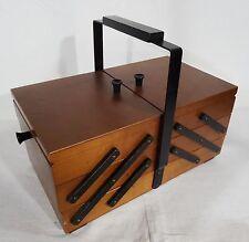 Antiker Nähkasten Utensilienbox Buche Nähkästchen Art Deco - antique sewing box