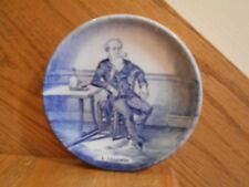Delft Mini Plate Boch Belgium blue l'Absinthe man with pipe *shipping included!*