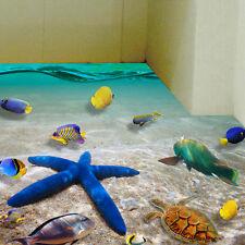 3D Starfish Floor Wall Sticker Removable Mural Decal PVC Art Bathroom Home Decor