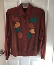 Philippe Marques Vintage Rust Colored Pop Over Blouse