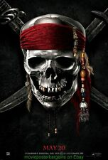 PIRATES OF THE CARIBBEAN 4 MOVIE POSTER 27x40 DS ADVANCE STYLE 2011 JOHNNY DEPP