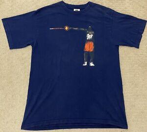 Vintage 90s White Tag Nike Basketball Men's Graphic Print T-Shirt Size Medium