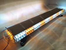 "88 LED 47"" AMBER&WHITE EMERGENCY BEACON ROOF TOW TRUCK RESPONSE STROBE LIGHT BAR"