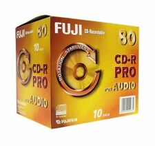 1x10 Pack Fuji CD-R PRO 80 audio (rotationstabilizer) writeonce NUOVO (World *) 002-136