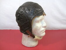 WWII US Army Air Force AAF Type B-6 Leather Pilot Flying Helmet - Sz Large 1942