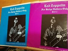 Led Zeppelin Bootleg Badgeholders Part 1 and Part 2 =Both Albums Complete