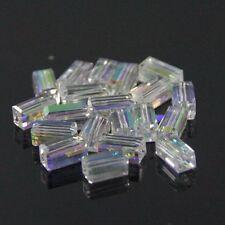 20pcs Swaro/vski  4x4x8mm Cuboid Crystal beads D Clear AB