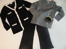 Gymboree Tres Fabulous Girls Size 3 4 Black Pants Top Sweater Set NEW NWT