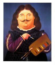 Portrait Of Velazquez by Fernando Botero Art Print 1999 Latin Poster 23x19.25