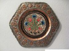 Kupfer Wandteller Teller Tablett Kupferteller handbemalt Tablett