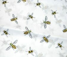"10 Large 20"" x 26"" Sheets -- BUMBLE BEES on White Tissue Paper / Gift Wrap"