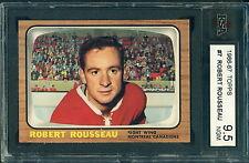 1966 67 TOPPS #7 ROBERT ROSSEAU KSA 9.5 NEAR GEM MINT!! CANADIENS