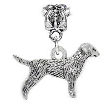 Dog Pet Animal Puppy Pointer Dangle Charm for Silver European Bead Bracelets