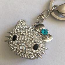 Bling Kitty Purse Charm Keychain Crystal Teal Sparkle Cute A308
