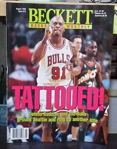 Beckett Basketball magazine August 1996 edition Dennis Rodman cover