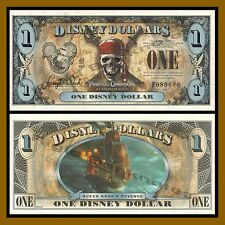 "Disney 1 Dollar, 2011 ""F"" Seies (Error ""9"" in serial is shifted up) (080090) Unc"