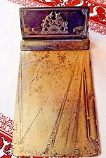 Mini Advertising BRASS DESK PAPER CLIP BOARD CHARLOTTE LEATHER BELTING CO NC Old