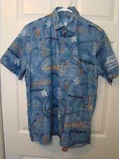 Bud Light Budweiser Blue Hawaiian Shirt M Island Traditions Of Hawaii Palm Trees