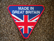 75mm MADE IN GREAT BRITAIN MOTORBIKE EMBROIDERED PATCH