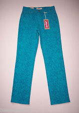 Levi's 512 Perfectly Slimming Jeans turquoise Teal Print Straight Leg 10 30/32