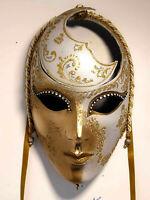 Luna Liberty - Maschera viso carnevale veneziana artigianale in cartapesta