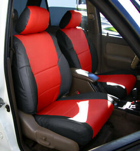 TOYOTA 4RUNNER 1996-2002 IGGEE S.LEATHER CUSTOM MADE FIT 2 FRONT SEAT COVERS