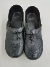 Dankso Women's Sz 40 Floral Stamped Leather Clog