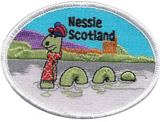 Scotland Loch Ness Monster Nessie Flag Embroidered Patch Badge
