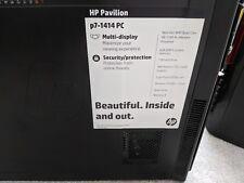 HP PAVILION P7-1414PC A8-5500 6GB RAM 1TB HD WINDOWS 8